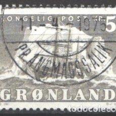 Sellos: GROENLANDIA, 1950-59 YVERT Nº 27, BARCO / VELERO.. Lote 191123245