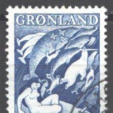 Sellos: GROENLANDIA, 1957 YVERT Nº 30,. Lote 191123311