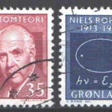 Francobolli: GROENLANDIA, 1963 YVERT Nº 53 / 54. Lote 191124645