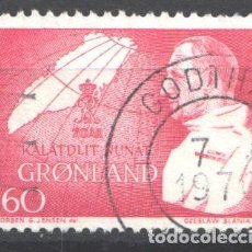 Francobolli: GROENLANDIA, 1969 YVERT Nº 61. Lote 191124755