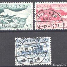 Francobolli: GROENLANDIA, 1971 YVERT Nº 66 / 68. Lote 191125572
