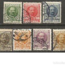 Selos: DINAMARCA YVERT NUM. 55/61 SERIE COMPLETA USADA. Lote 191290487