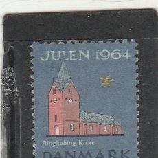 Sellos: DINAMARCA 1964 - VIÑETA NAVIDENA JUL 64 - USADO -. Lote 191723411