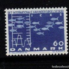 Sellos: DINAMARCA 435** - AÑO 1964 - CONGRESO INTERNACIONAL SOBRE LA EXPLOTACION MARINA. Lote 193948543