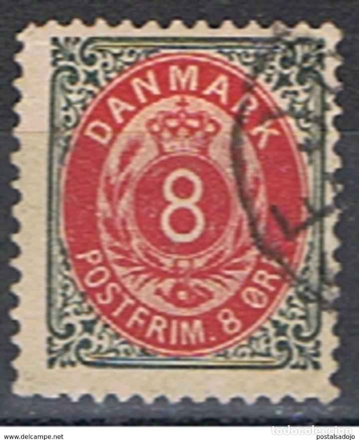 DINAMARCA // YVERT 24 // 1875-09 ... USADO (Sellos - Extranjero - Europa - Dinamarca)