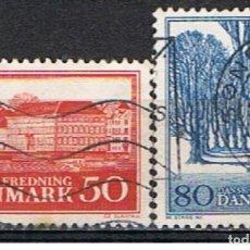 Sellos: DINAMARCA // YVERT 449 , 450 // 1966 ... USADOS. Lote 194070233