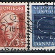 Sellos: DINAMARCA // YVERT 429, 430 // 1962 ... SERIE COMPLETA .. USADOS. Lote 194070486