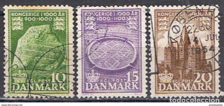 DINAMARCA // YVERT 347, 348, 349 // 1953 ... SERIE COMPLETA .. USADOS (Sellos - Extranjero - Europa - Dinamarca)