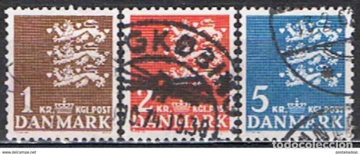 DINAMARCA // YVERT 304, 305, 306 // 1946 .. SERIE COMPLETA ... USADOS (Sellos - Extranjero - Europa - Dinamarca)