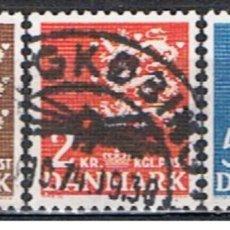Sellos: DINAMARCA // YVERT 304, 305, 306 // 1946 .. SERIE COMPLETA ... USADOS. Lote 194071640