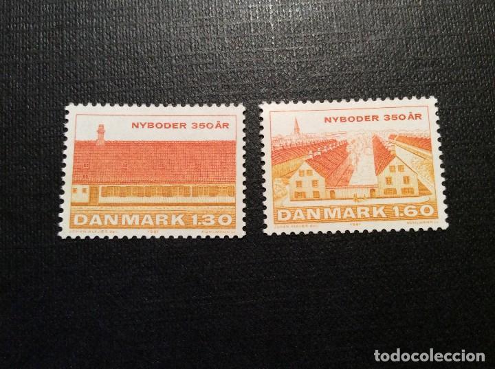 DINAMARCA Nº YVERT 731/2*** AÑO 1981. 350 ANIVERSARIO DE NYBODER, BARRIO MARITIMO DE COPENHAGUE (Sellos - Extranjero - Europa - Dinamarca)