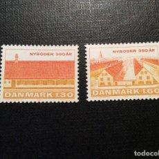 Sellos: DINAMARCA Nº YVERT 731/2*** AÑO 1981. 350 ANIVERSARIO DE NYBODER, BARRIO MARITIMO DE COPENHAGUE. Lote 194538087