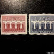 Sellos: FEROE (DINAMARCA) YVERT 91/2 SERIE COMPLETA NUEVA ***. EUROPA CEPT. PUENTES.. Lote 194965635