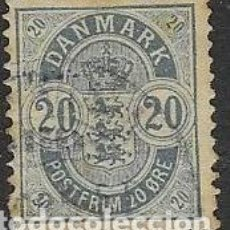 Sellos: SELLO USADO DE DINAMARCA YT 37, FOTO ORIGINAL. Lote 195081196
