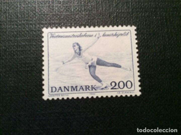 DINAMARCA Nº YVERT 751*** AÑO 1982. CAMPEONATOS DEL MUNDO DE PATINAJE ARTISTICO (Sellos - Extranjero - Europa - Dinamarca)