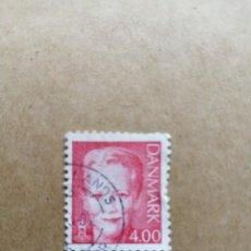 Sellos: DINAMARCA - VALOR FACIAL 4.00 - REINA MARGARITA II . Lote 195425518