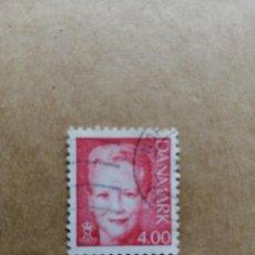 Sellos: DINAMARCA - VALOR FACIAL 4.00 - REINA MARGARITA II . Lote 195425655