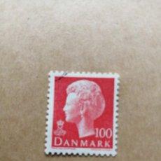 Sellos: DINAMARCA - VALOR FACIAL 100 - EFIGIE DE LA REINA MARGARITA II - YV 626. Lote 195451213