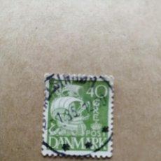 Sellos: DINAMARCA - VALOR FACIAL 40 ORE - VELERO - CARABELA - AÑO 1927-1930 - YV 186. Lote 195451446
