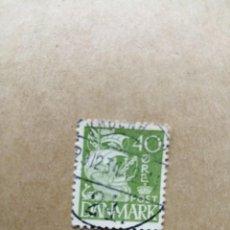 Sellos: DINAMARCA - VALOR FACIAL 40 ORE - VELERO - CARABELA - AÑO 1927-1930 - YV 186. Lote 195451557