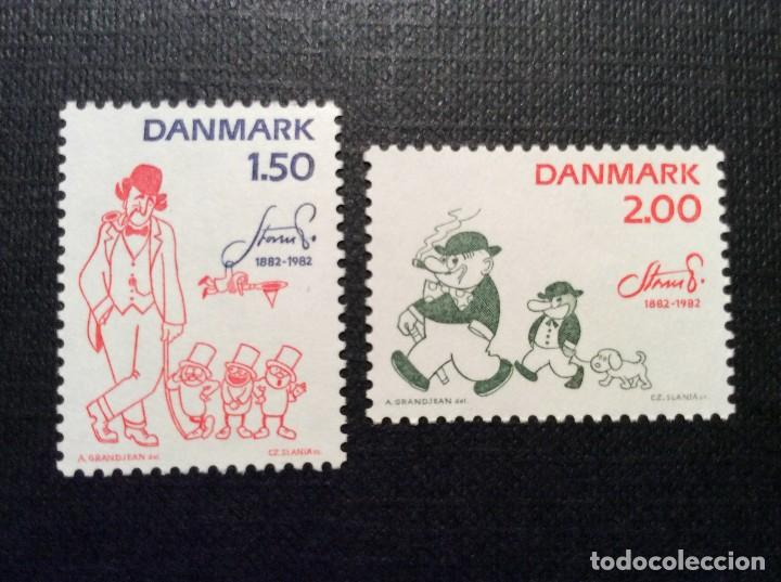 DINAMARCA Nº YVERT 767/8*** AÑO 1983. CENTENARIO NACIM. ROBERT S. PETERSEN. PERSON DE TIRAS COMICAS (Sellos - Extranjero - Europa - Dinamarca)