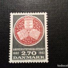 Sellos: DINAMARCA Nº YVERT 769*** AÑO 1983. 5º CENTENARIO BIBLIOTECA DE LA UNIVERSIDAD DE COPENHAGUE. Lote 196941917