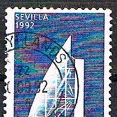 Sellos: DINAMARCA IVERT Nº 1040, EXPOSICION UNIVERSAL DE SEVILLA EXPO'92, PABELLÓN DANÉS, USADO. Lote 199381551