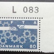 Sellos: 1967. DINAMARCA. 457. ASOCIACIÓN EUROPEA DE LIBRE COMERCIO (EFTA). SERIE COMPLETA. NUEVO.. Lote 202870370