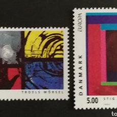 Sellos: DINAMARCA, N°1055/56 MNG, EUROPA CEPT 1993, ARTE CONTEMPORÁNEO (FOTOGRAFÍA REAL). Lote 203272357