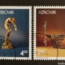 Sellos: FEROE, EUROPA 1993,ARTE CONTEMPORÁNEO, USADA (FOTOGRAFÍA REAL). Lote 203309606
