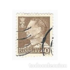 Sellos: SELLO DINAMARCA REY FEDERICO IX 40. Lote 203802225