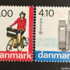 Sellos: DINAMARCA, EUROPA CEPT 1987 MNG, TRANSPORTES Y COMUNICACIONES (FOTOGRAFÍA REAL). Lote 204023690
