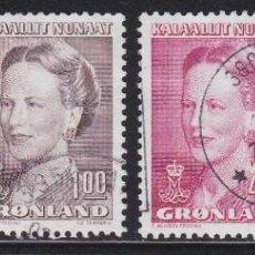 Selos: GROENLANDIA 1990 - SERIE COMPLETA MATASELLADA YVERT Nº 189/192. Lote 205309210