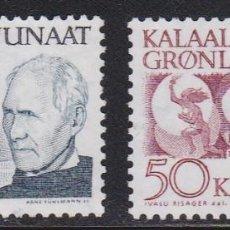 Selos: GROENLANDIA 1991 - SERIE COMPLETA MATASELLADA YVERT Nº 209/210. Lote 205309238