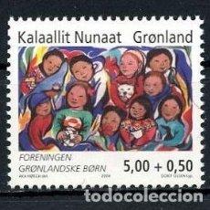 Sellos: GROENLANDIA, 2004 YVERT N 398 /**/, SOCIEDAD DE NIÑOS DE GROENLANDIA. Lote 206188647