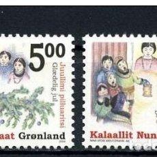 Sellos: GROENLANDIA, 2004 YVERT Nº 406 / 407 /**/, NAVIDAD. Lote 206188715
