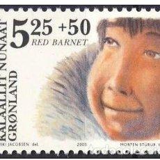 Sellos: GROENLANDIA, 2005 YVERT Nº 418 /**/, HUMANIDAD, FONDO SAVE THE CHILDREN. Lote 206188746