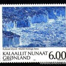 Sellos: GROENLANDIA, 2005 YVERT Nº 419 /**/, PATRIMONIO DE LA HUMANIDAD, ILULISSAT ICEFJORD. Lote 206188762