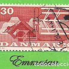 Sellos: DINAMARCA - MICHEL 379 - YVERT 387 - AGRICULTURA - COSECHADORA. (1960).. Lote 206803838