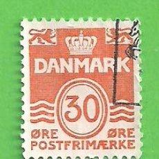 Sellos: DINAMARCA - MICHEL 744 - YVERT 746 - SERIE BÁSICA- OLAS. (1981).. Lote 206806955