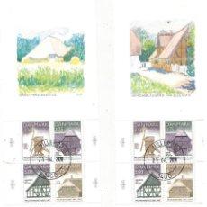 Sellos: PAREJA DE HOJAS BLOQUE DE DINAMARCA AÑO 1997 FRILANDSMUSEET. Lote 207177221