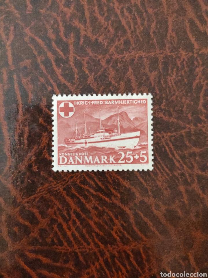 SELLO DENMARK 1951 RED CROSS/MEDICAL/HEALTH/WELFARE/HOSPITAL SHIP/TRANSPORT 1V N35889 (Sellos - Extranjero - Europa - Dinamarca)