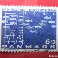 Sellos: +DINAMARCA 1964,CONFERENCIA DEL CONSEJO POR LA EXPLOTACION DE LOS MARES, YVERT 435. Lote 210681000