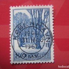 Sellos: +DINAMARCA 1966, SALVAGUARDA DE LA NATURALEZA, YVERT 450. Lote 210681420