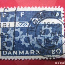 Sellos: +DINAMARCA 1967, YVERT 457. Lote 210681557