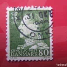 Sellos: +DINAMARCA 1967, FREDERIC IX, YVERT 466. Lote 210681819