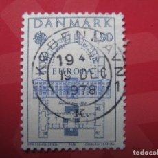 Sellos: +DINAMARCA 1978, EUROPA, YVERT 664. Lote 210716964