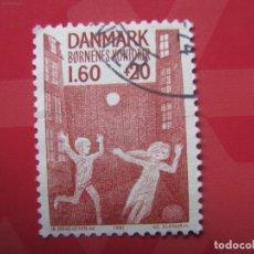 Sellos: +DINAMARCA 1981, PROTECCION DE LA INFANCIA, YVERT 730. Lote 210726612