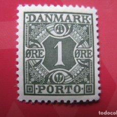 Sellos: +DINAMARCA 1921, YVERT 27 TASA. Lote 210728511