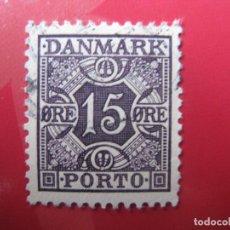 Sellos: +DINAMARCA 1934, YVERT 30B TASA. Lote 210729116